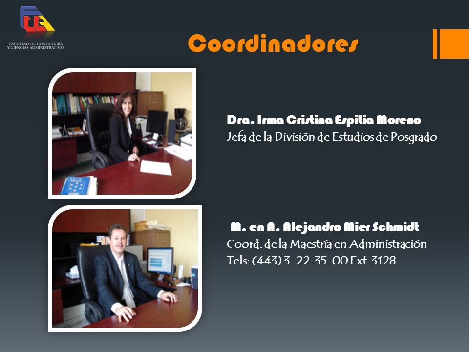 Coordinadores Dra. Irma Cristina Espitia Moreno