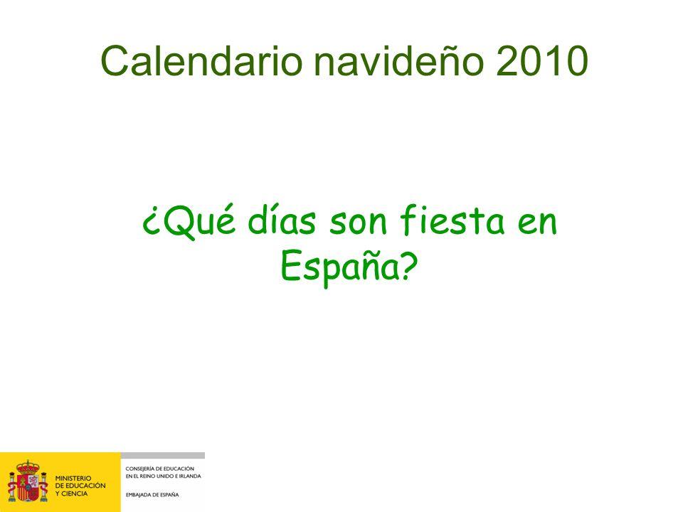 ¿Qué días son fiesta en España