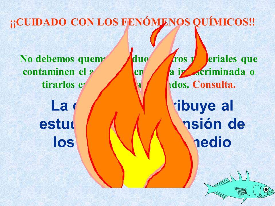 ¡¡CUIDADO CON LOS FENÓMENOS QUÍMICOS!!