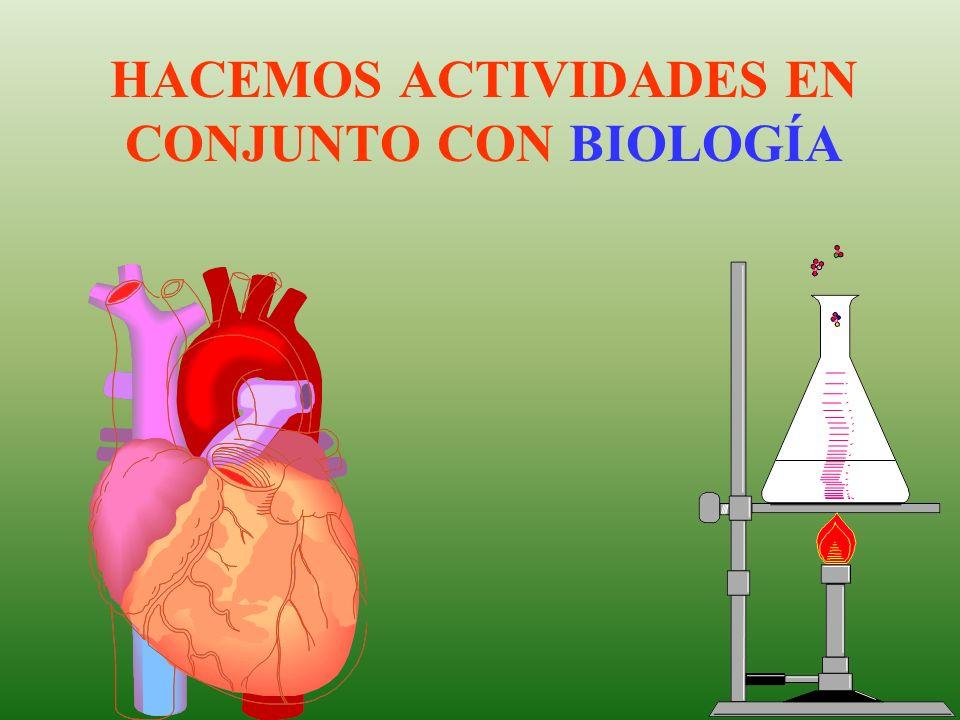 HACEMOS ACTIVIDADES EN CONJUNTO CON BIOLOGÍA