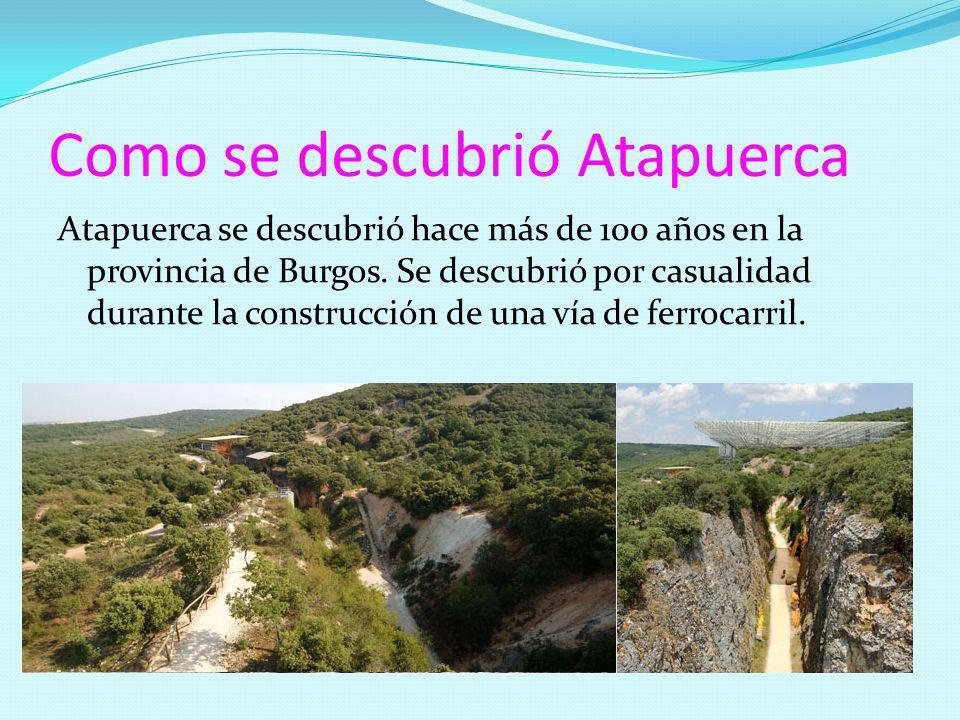 Como se descubrió Atapuerca