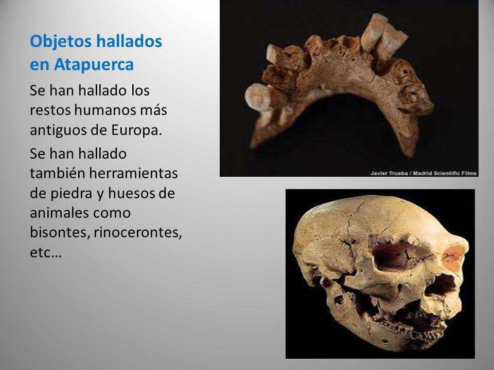 Objetos hallados en Atapuerca