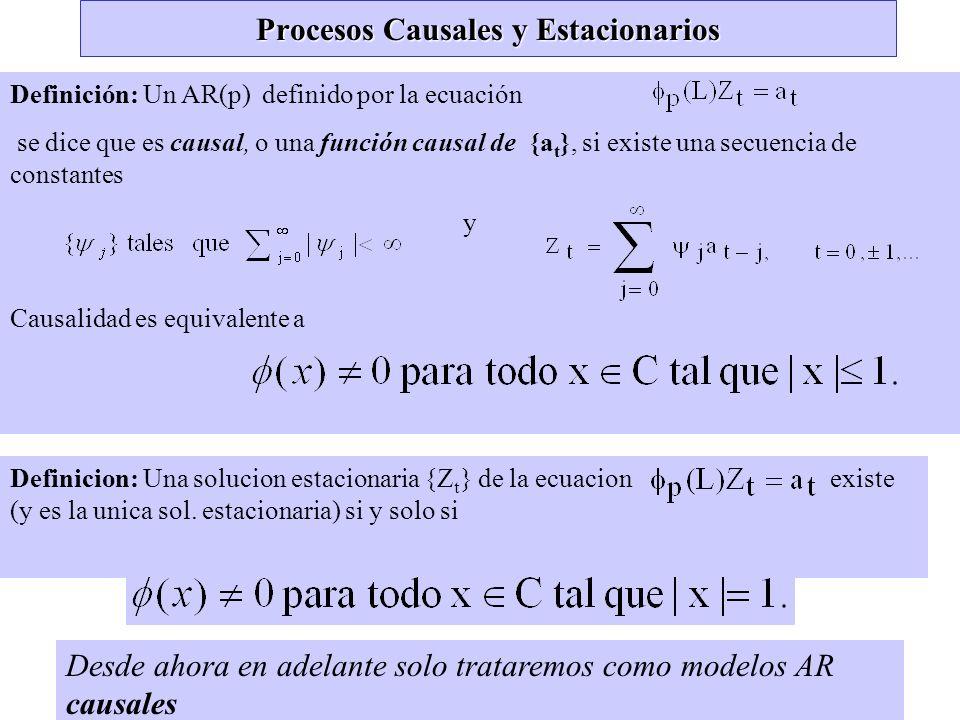 Procesos Causales y Estacionarios
