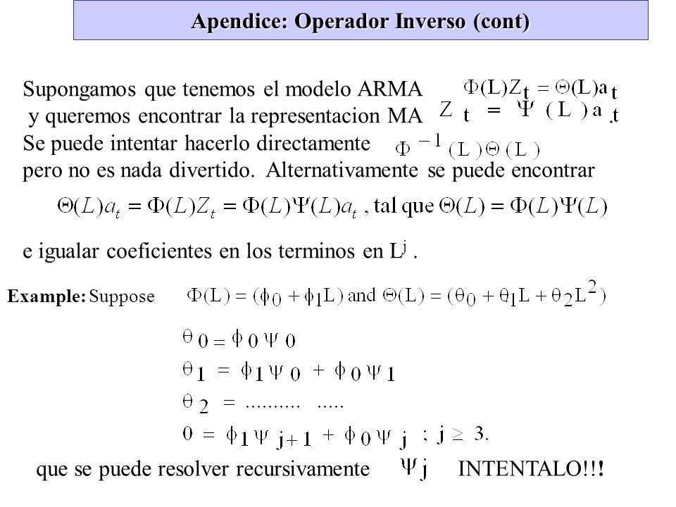 Apendice: Operador Inverso (cont)
