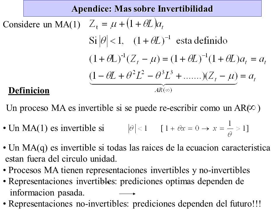 Apendice: Mas sobre Invertibilidad
