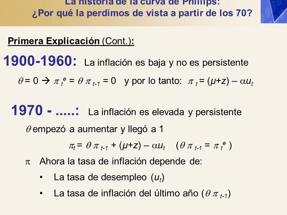 pt =   t-1 + (µ+z) – ut (  t-1 =  te )