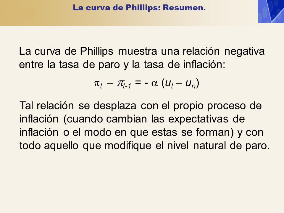 La curva de Phillips: Resumen.
