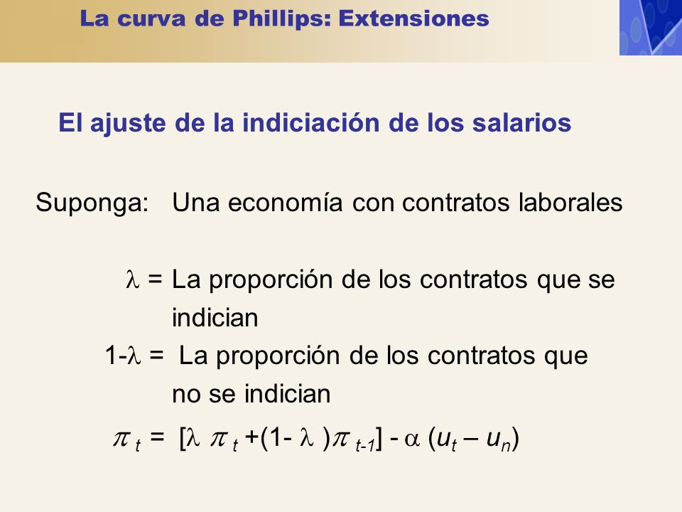 La curva de Phillips: Extensiones