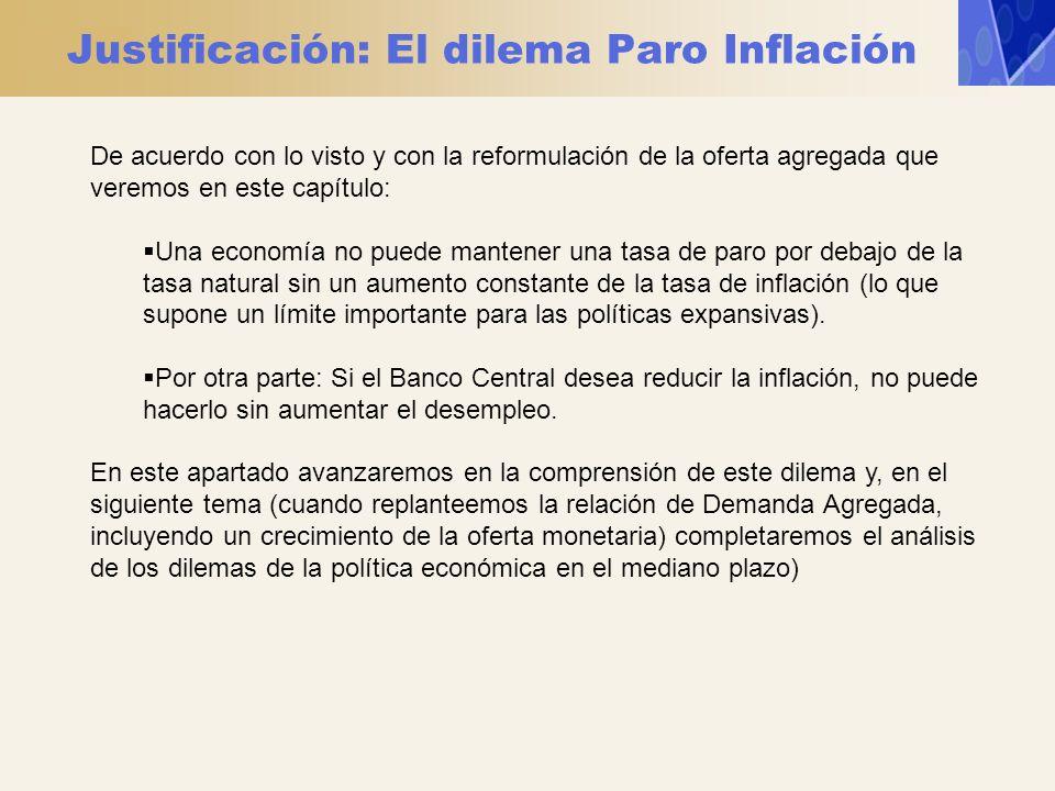 Justificación: El dilema Paro Inflación