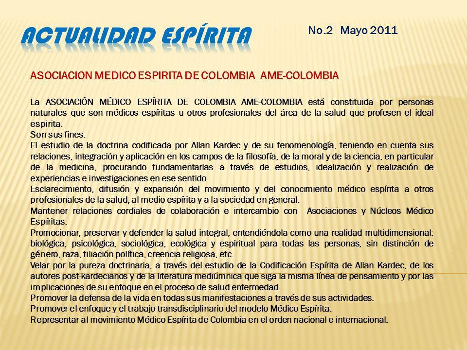 Actualidad espírita No.2 Mayo 2011