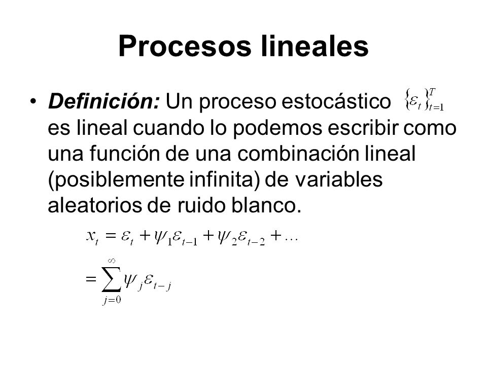 Procesos lineales
