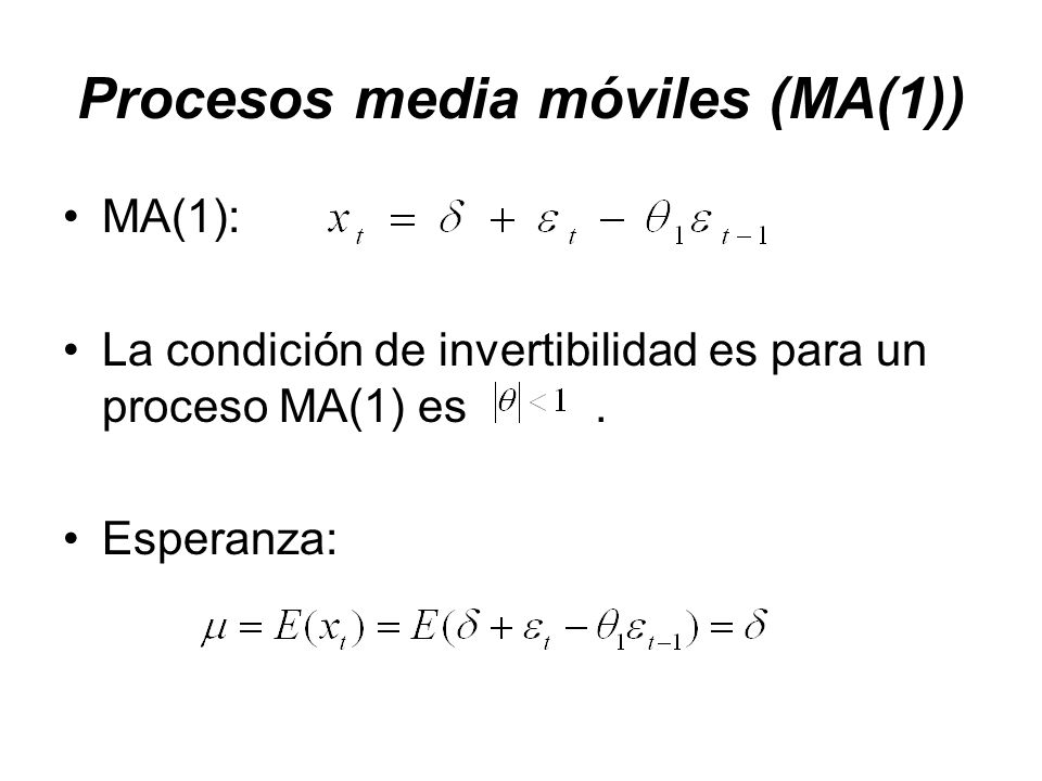 Procesos media móviles (MA(1))