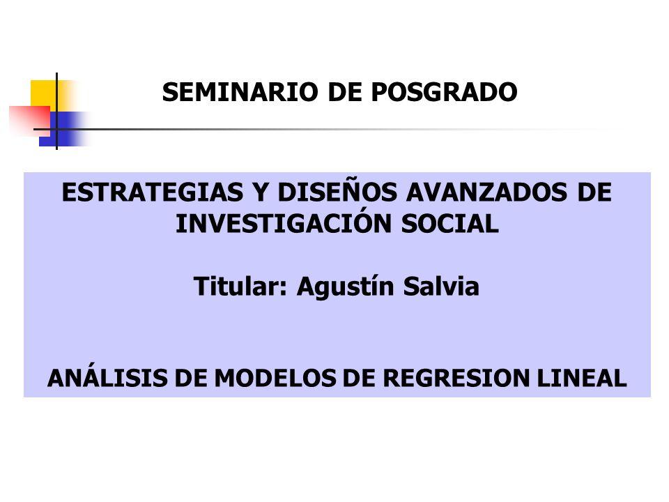 ESTRATEGIAS Y DISEÑOS AVANZADOS DE INVESTIGACIÓN SOCIAL