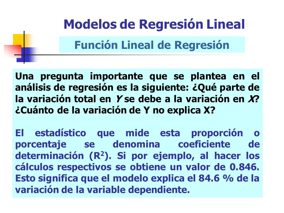 Función Lineal de Regresión