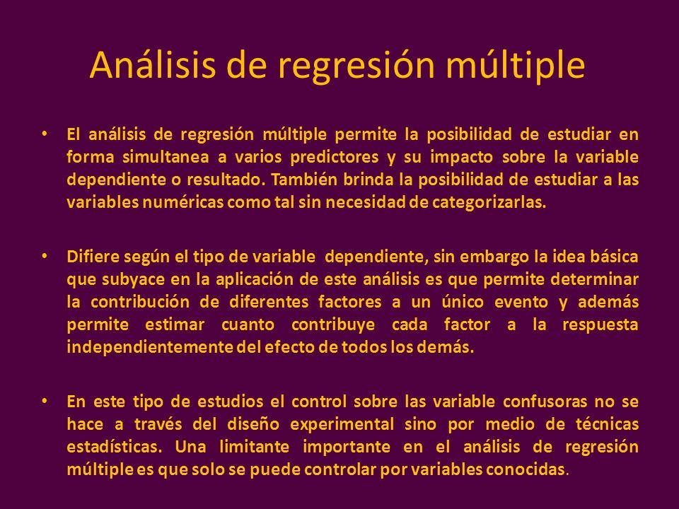 Análisis de regresión múltiple