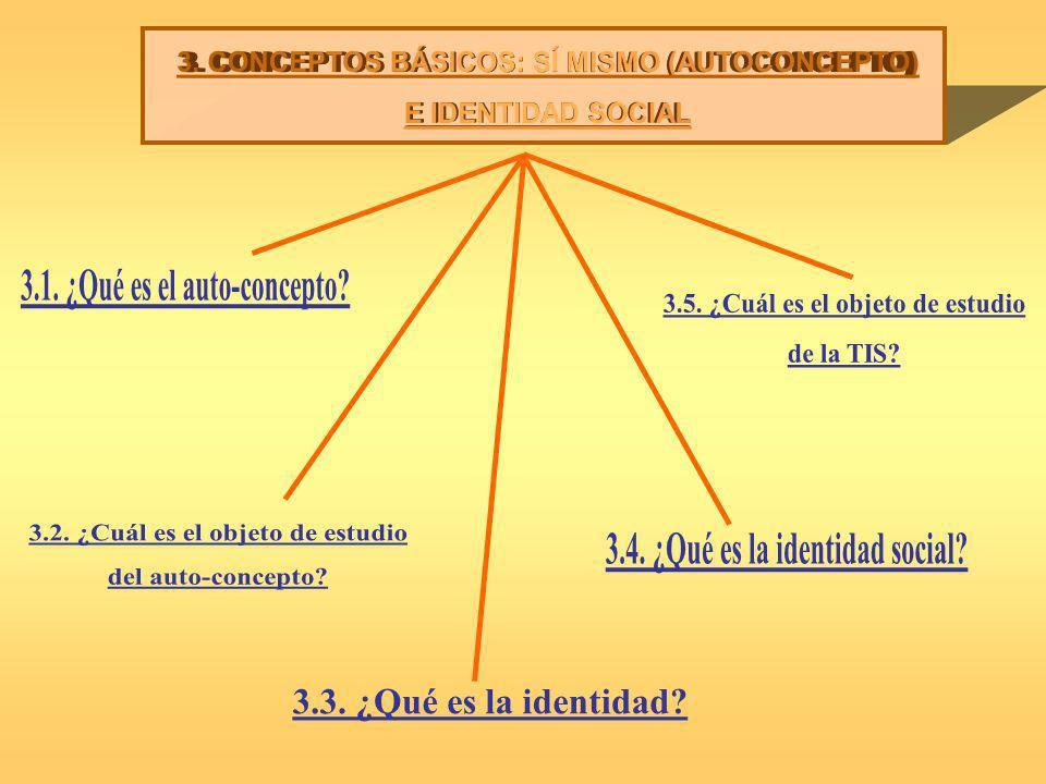 3. CONCEPTOS BÁSICOS: SÍ MISMO (AUTOCONCEPTO) E IDENTIDAD SOCIAL
