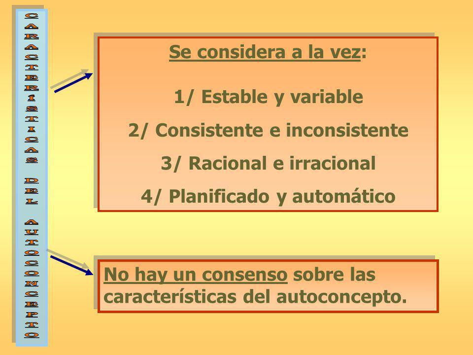 2/ Consistente e inconsistente 3/ Racional e irracional