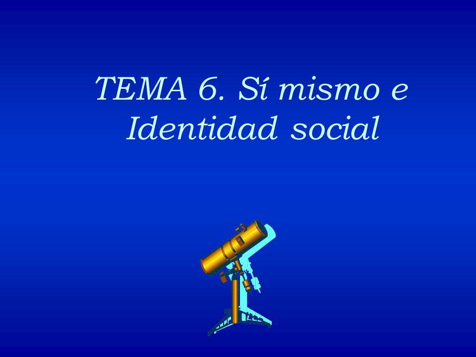TEMA 6. Sí mismo e Identidad social