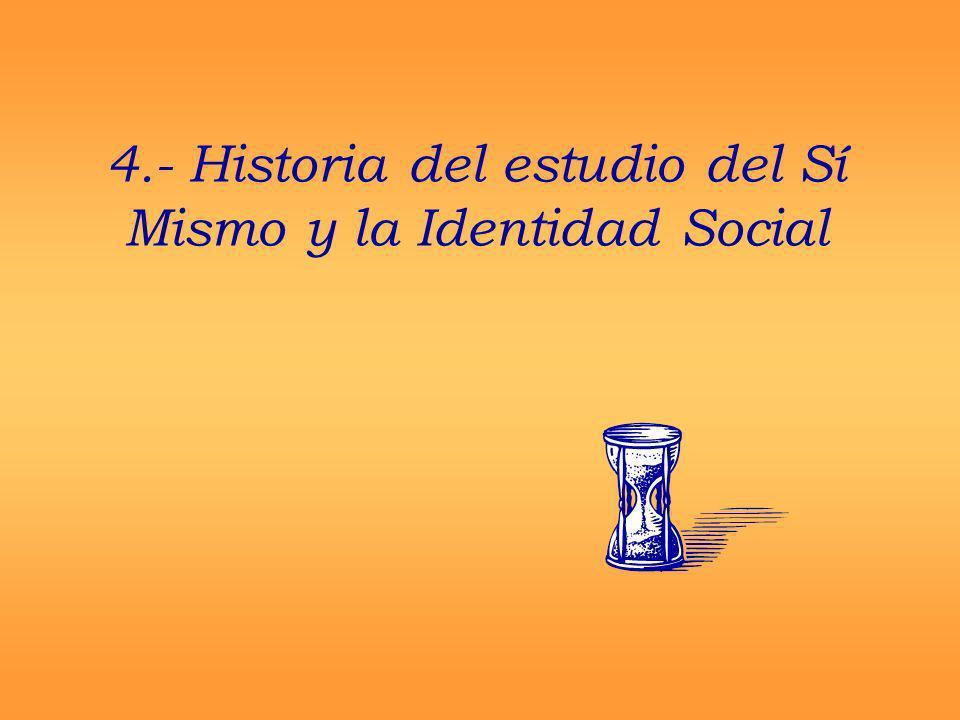 4.- Historia del estudio del Sí Mismo y la Identidad Social
