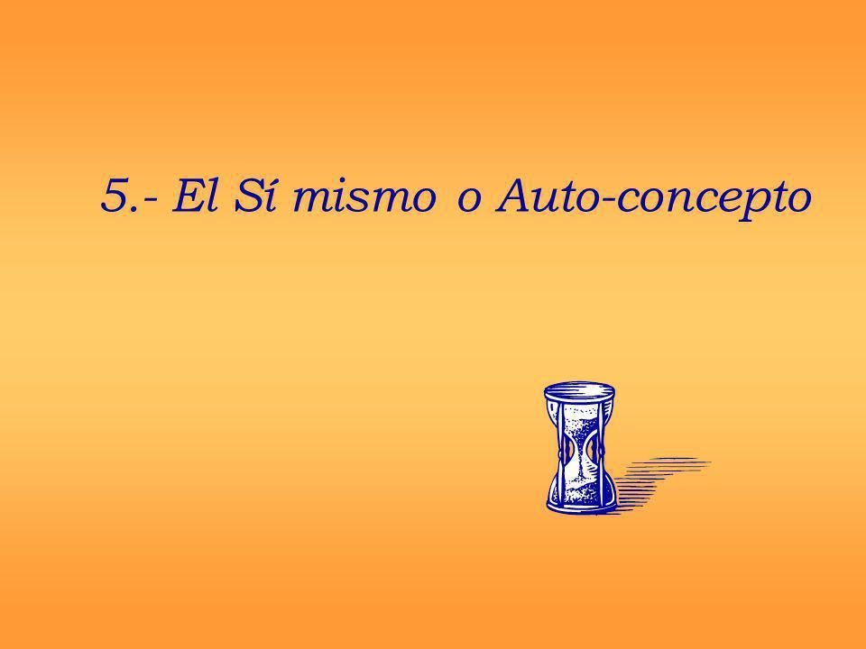 5.- El Sí mismo o Auto-concepto