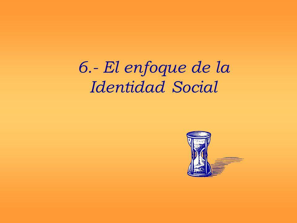 6.- El enfoque de la Identidad Social