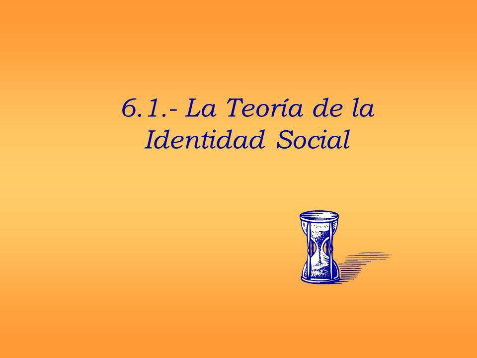 6.1.- La Teoría de la Identidad Social
