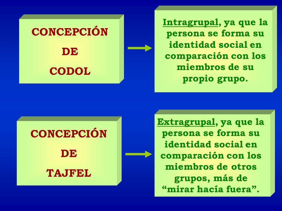 CONCEPCIÓN DE CODOL CONCEPCIÓN DE TAJFEL