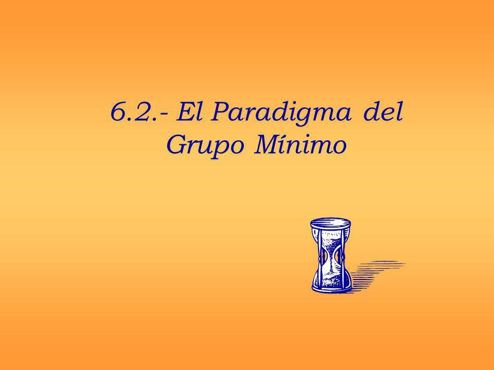 6.2.- El Paradigma del Grupo Mínimo