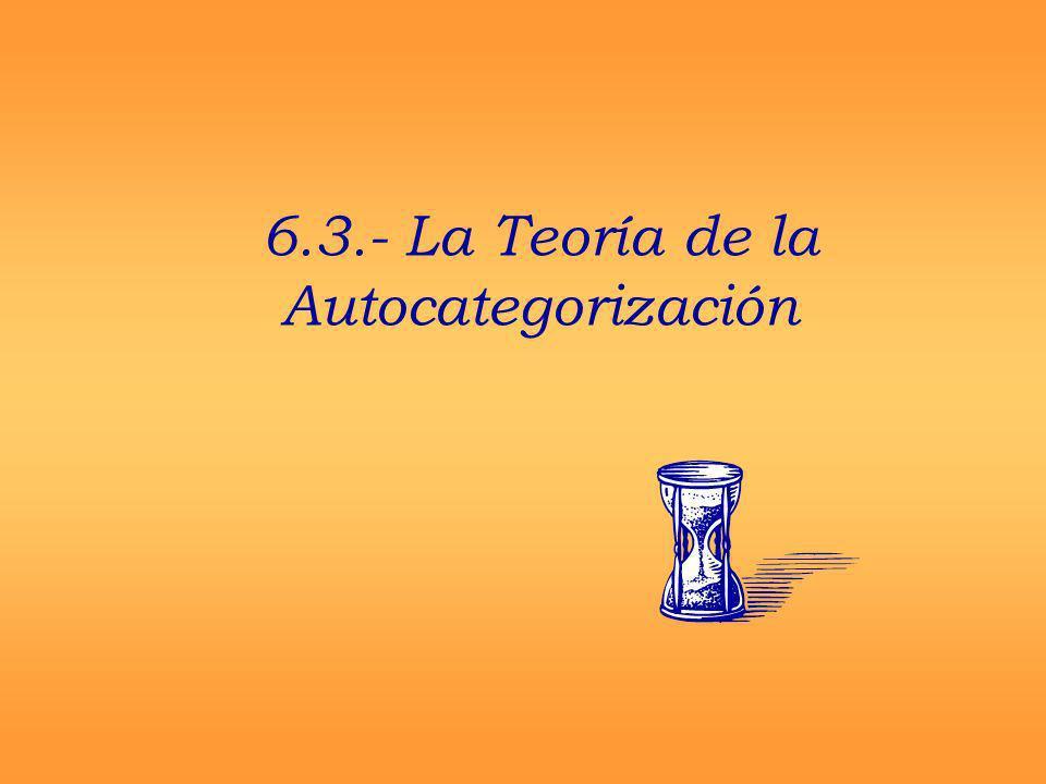 6.3.- La Teoría de la Autocategorización