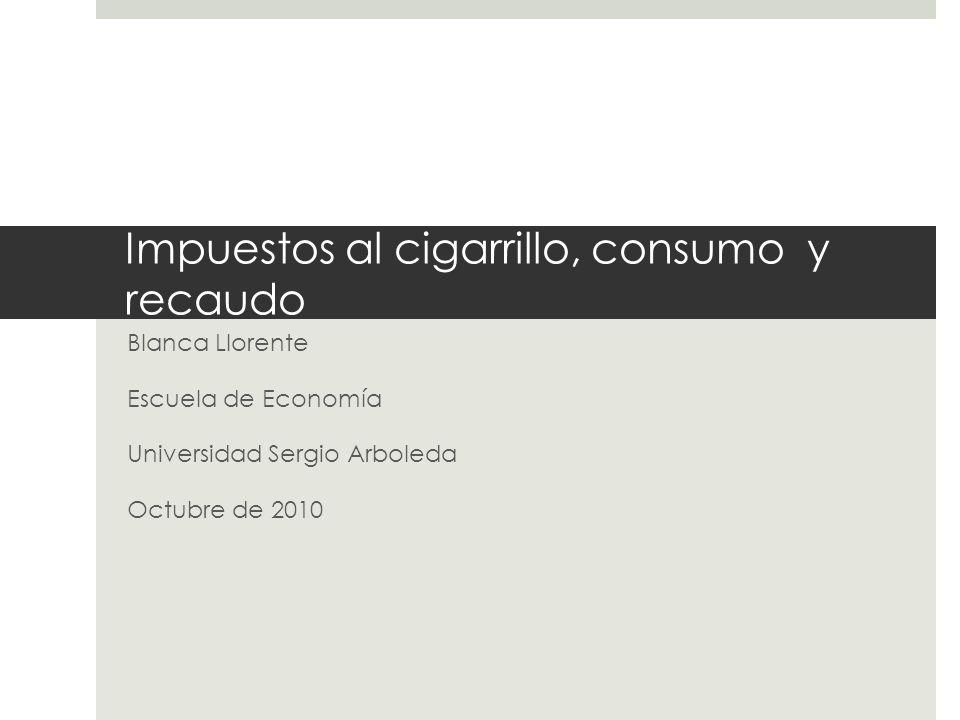 Impuestos al cigarrillo, consumo y recaudo