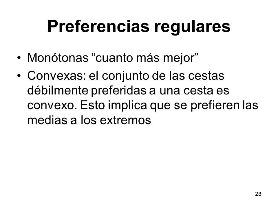 Preferencias regulares