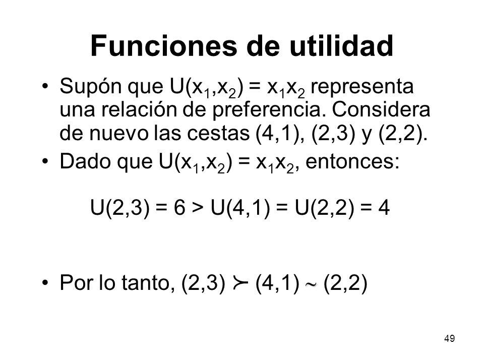 Funciones de utilidad p