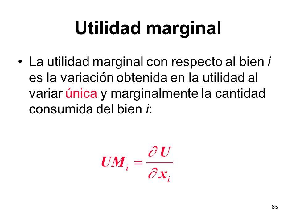 Utilidad marginal