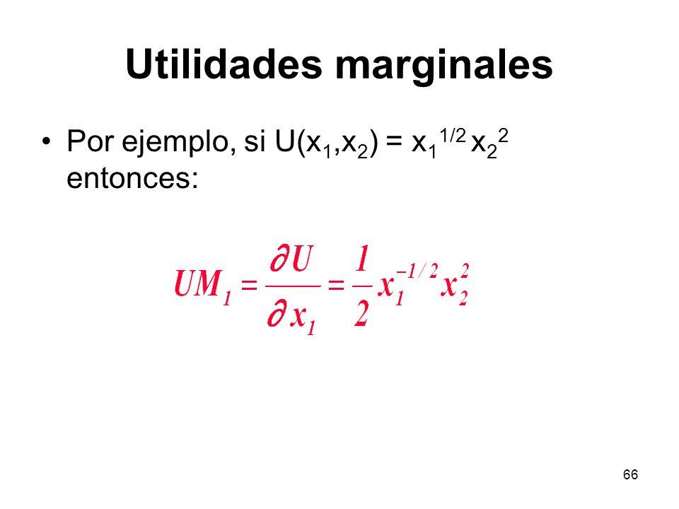 Utilidades marginales