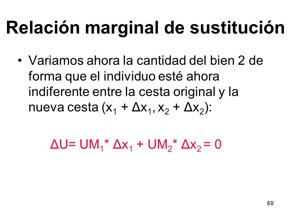 Relación marginal de sustitución