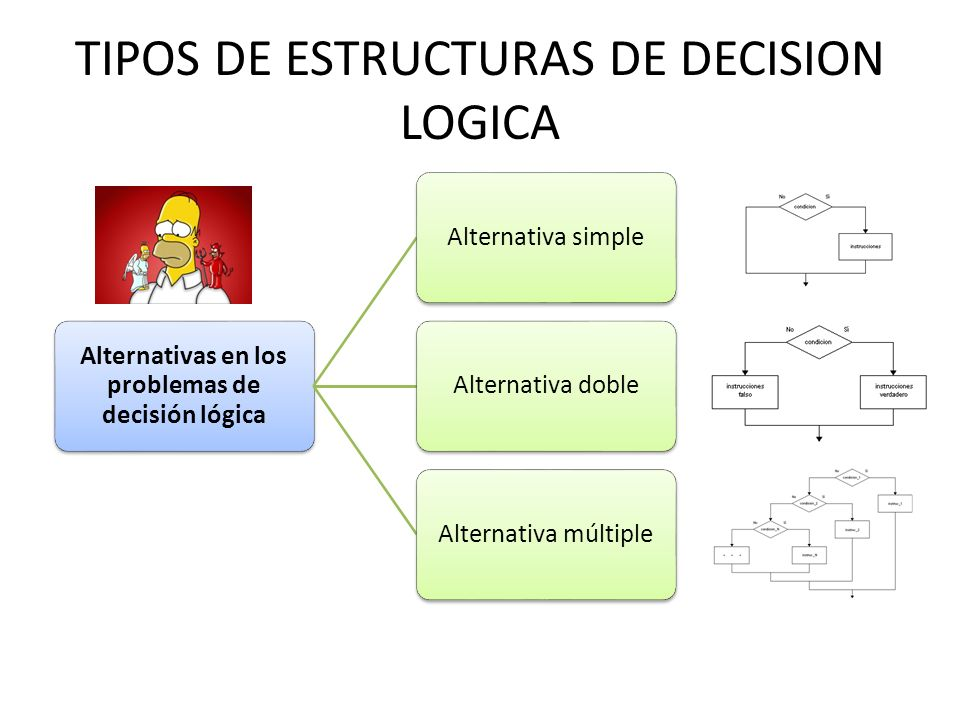 TIPOS DE ESTRUCTURAS DE DECISION LOGICA