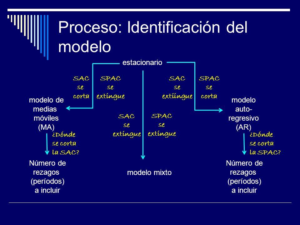 Proceso: Identificación del modelo