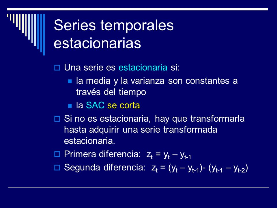 Series temporales estacionarias