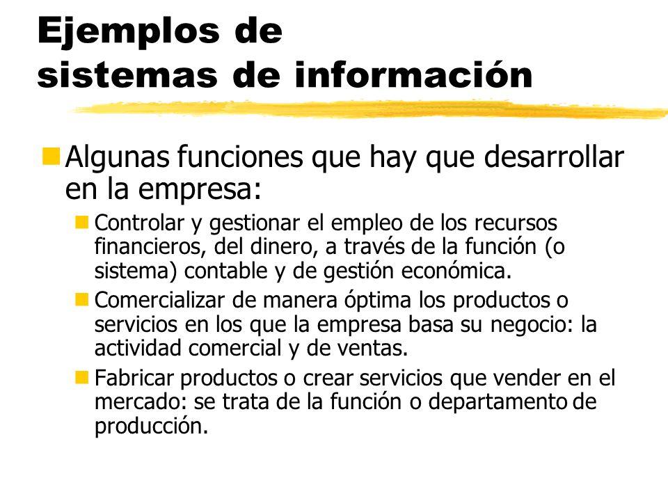 Ejemplos de sistemas de información