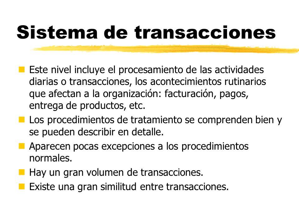 Sistema de transacciones