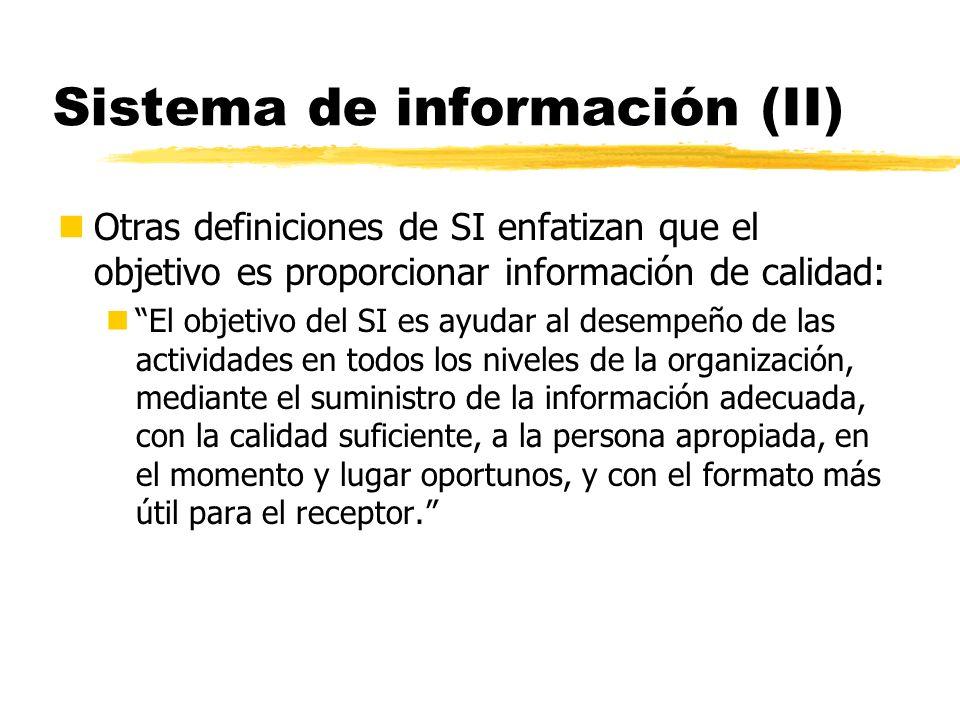 Sistema de información (II)