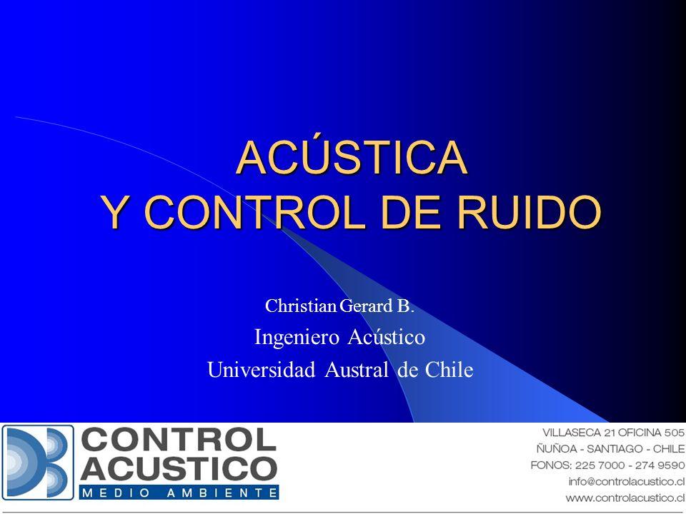 ACÚSTICA Y CONTROL DE RUIDO