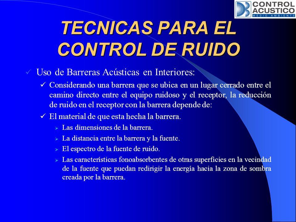 TECNICAS PARA EL CONTROL DE RUIDO