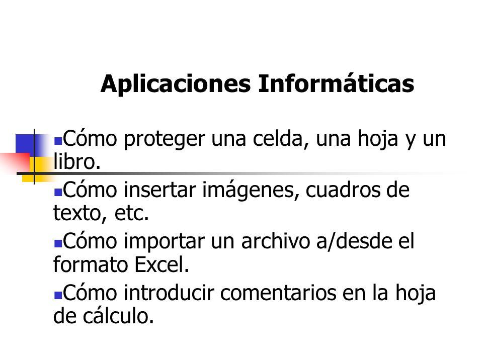 Aplicaciones Informáticas