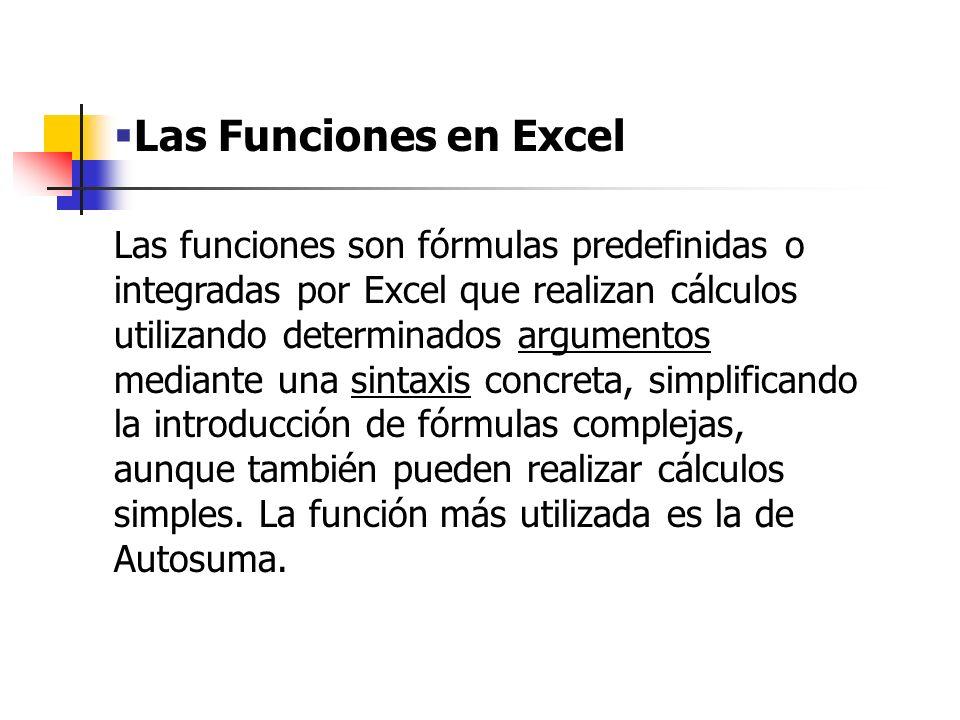 Las Funciones en Excel