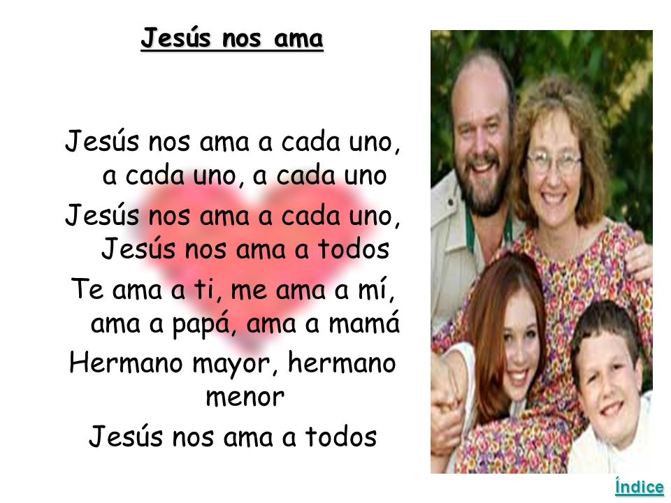 Jesús nos ama a cada uno, a cada uno, a cada uno