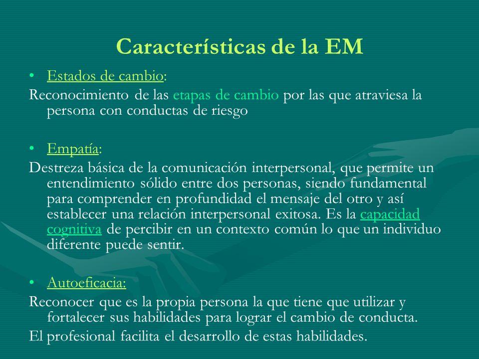 Características de la EM