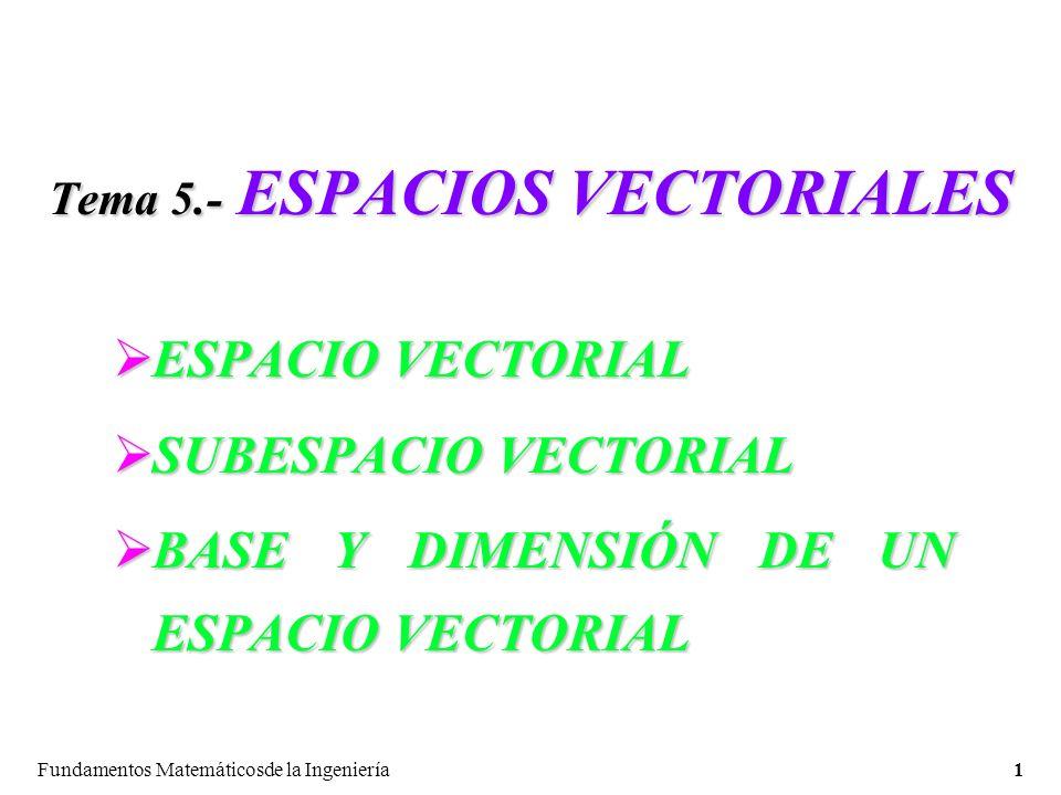 Tema 5.- ESPACIOS VECTORIALES