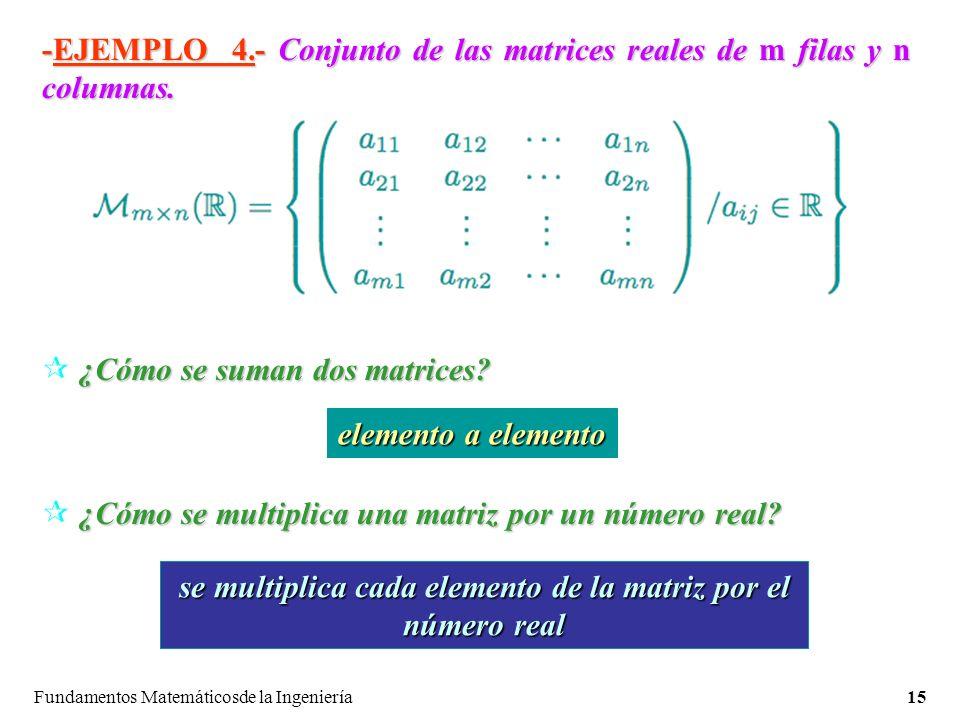 se multiplica cada elemento de la matriz por el número real