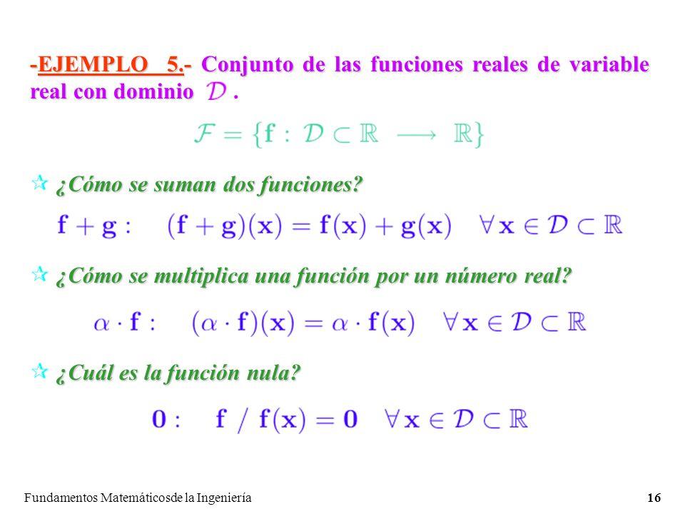 ¿Cómo se suman dos funciones